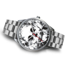 Load image into Gallery viewer, Insomia Silver Skull Watch-Silver Watch-wc-fulfillment-Mens 40mm-Silver Metal Link-SKULLZOPHRENIA