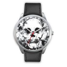 Load image into Gallery viewer, Insomia Silver Skull Watch-Silver Watch-wc-fulfillment-Mens 40mm-Black Leather-SKULLZOPHRENIA