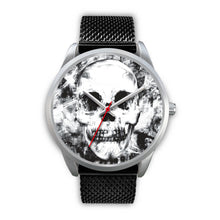 Load image into Gallery viewer, Insomia Silver Skull Watch-Silver Watch-wc-fulfillment-Mens 40mm-Black Metal Mesh-SKULLZOPHRENIA