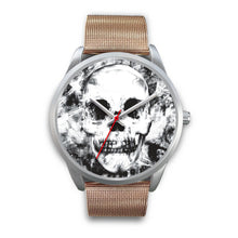 Load image into Gallery viewer, Insomia Silver Skull Watch-Silver Watch-wc-fulfillment-Mens 40mm-Rose Gold Metal Mesh-SKULLZOPHRENIA