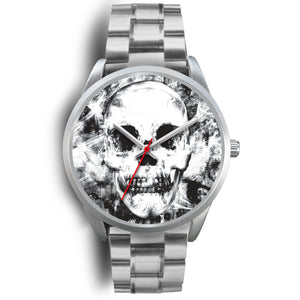 Insomia Silver Skull Watch-Silver Watch-wc-fulfillment-Mens 40mm-Silver Metal Link-SKULLZOPHRENIA