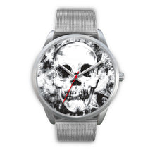 Load image into Gallery viewer, Insomia Silver Skull Watch-Silver Watch-wc-fulfillment-Mens 40mm-Silver Metal Mesh-SKULLZOPHRENIA