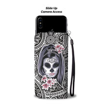 Load image into Gallery viewer, La Catrina Wallet Phone Case-Wallet Case-wc-fulfillment-SKULLZOPHRENIA