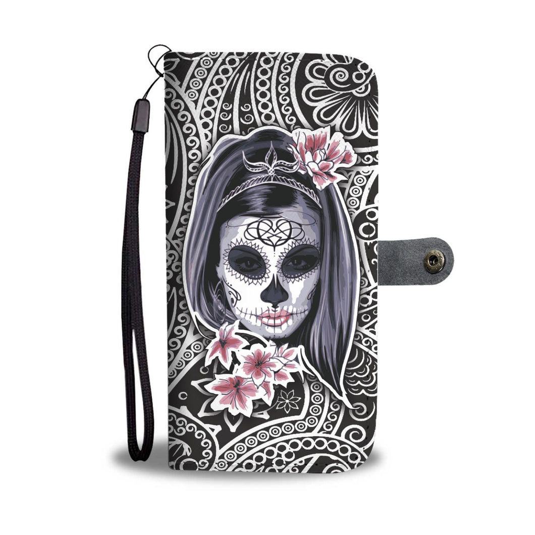 La Catrina Wallet Phone Case-Wallet Case-wc-fulfillment-SKULLZOPHRENIA