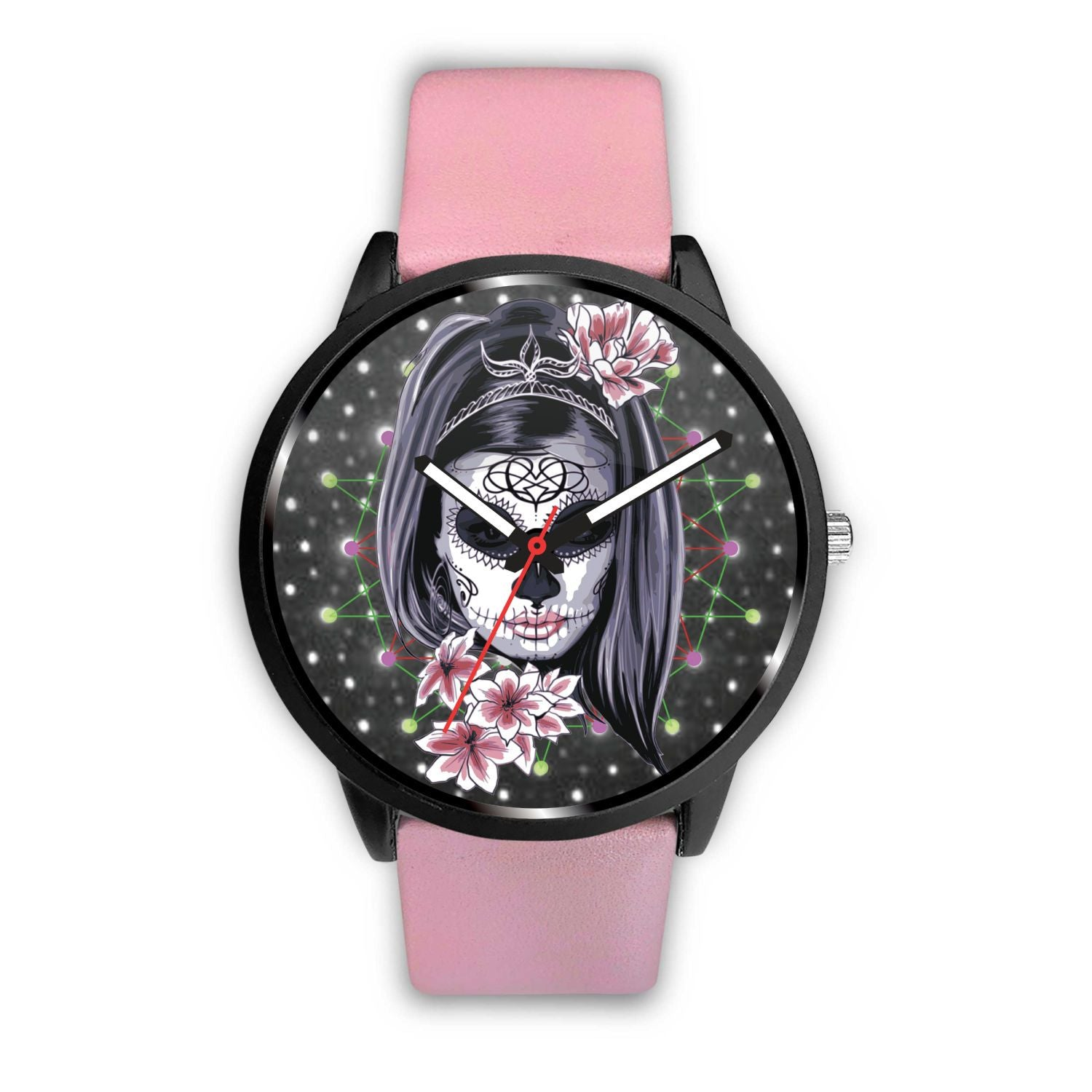 La Catrina Watch-Watch-wc-fulfillment-Mens 40mm-Pink-SKULLZOPHRENIA