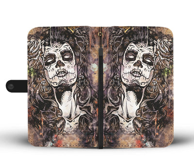 Lady of the Dead 2 Wallet Phone Case-Wallet Case-wc-fulfillment-SKULLZOPHRENIA