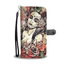 Load image into Gallery viewer, Lady of the Dead Wallet Phone Case-Wallet Case-wc-fulfillment-SKULLZOPHRENIA
