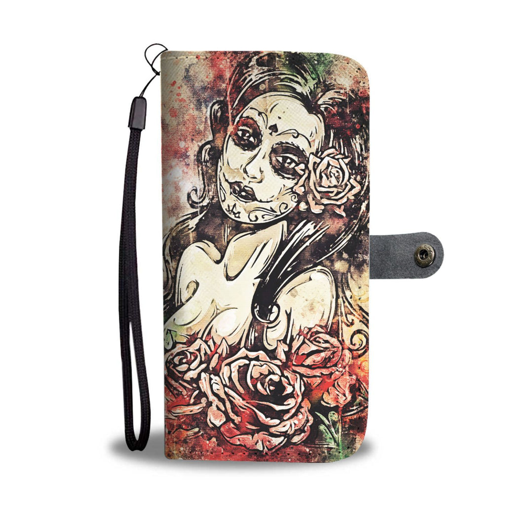 Lady of the Dead Wallet Phone Case-Wallet Case-wc-fulfillment-SKULLZOPHRENIA