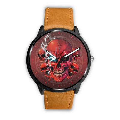 [Limited Edition] Mad Conqueror™ Skull Watch-Watch-wc-fulfillment-Mens 40mm-Brown-SKULLZOPHRENIA