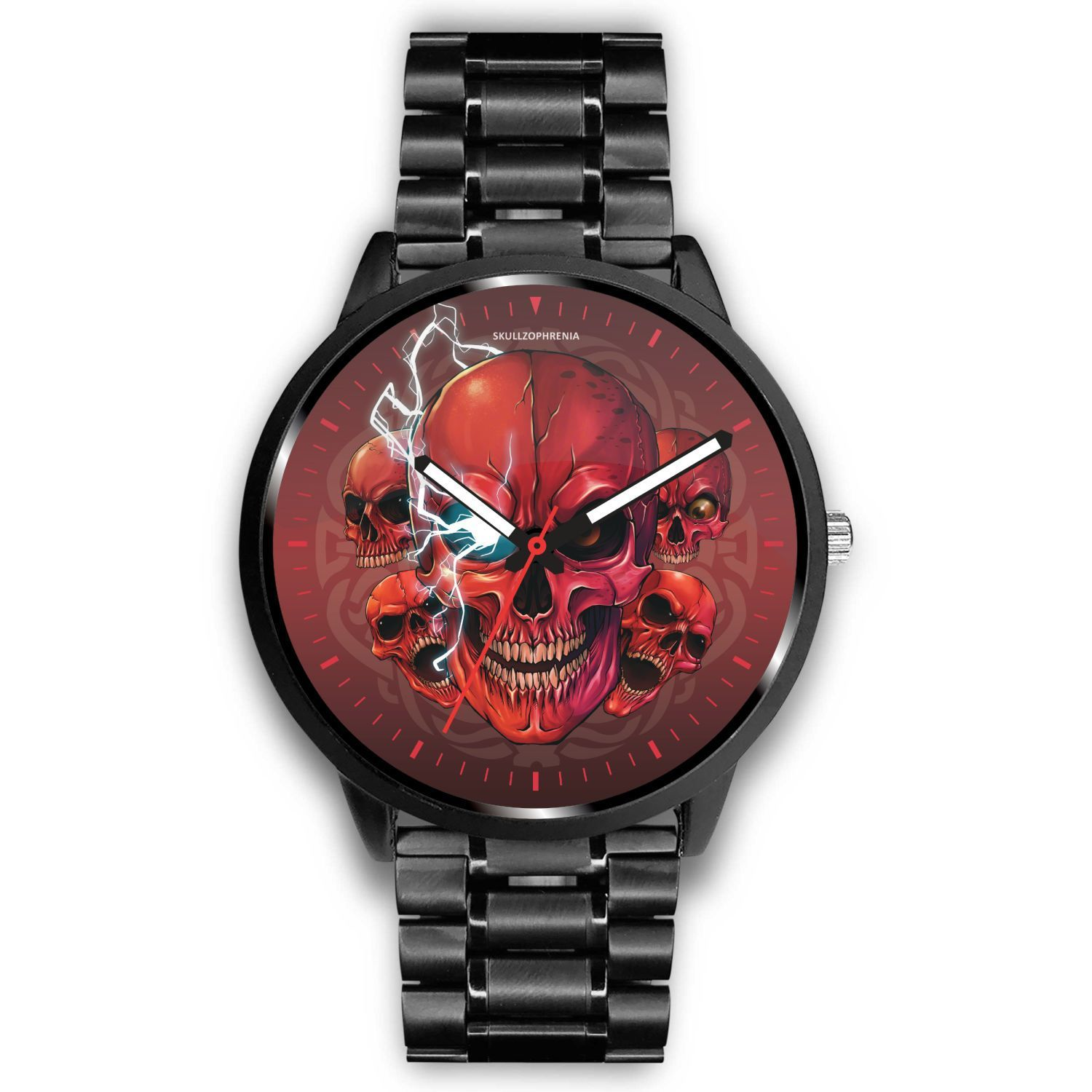[Limited Edition] Mad Conqueror™ Skull Watch-Watch-wc-fulfillment-Mens 40mm-Metal Link-SKULLZOPHRENIA