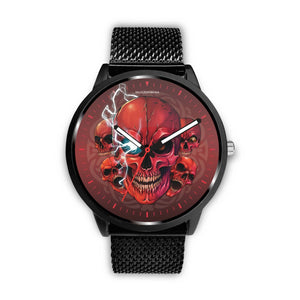 [Limited Edition] Mad Conqueror™ Skull Watch-Watch-wc-fulfillment-Mens 40mm-Metal Mesh-SKULLZOPHRENIA