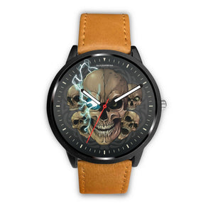 [Limited Edition] Mad Emperor™ Skull Watch-Watch-wc-fulfillment-Mens 40mm-Brown-SKULLZOPHRENIA