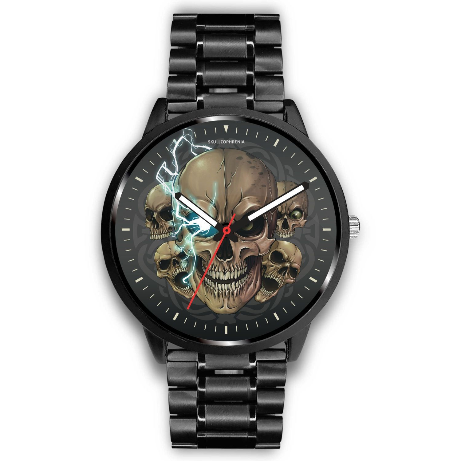 [Limited Edition] Mad Emperor™ Skull Watch-Watch-wc-fulfillment-Mens 40mm-Metal Link-SKULLZOPHRENIA