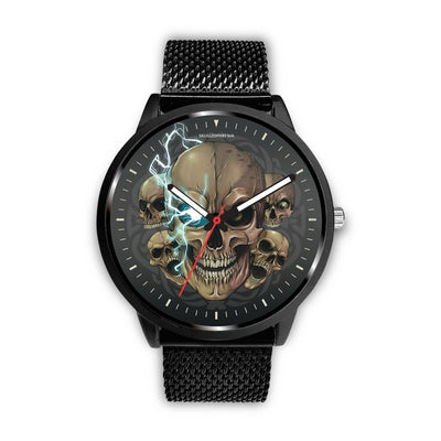 [Limited Edition] Mad Emperor™ Skull Watch-Watch-wc-fulfillment-Mens 40mm-Metal Mesh-SKULLZOPHRENIA