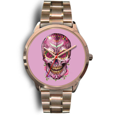 Mayle Rose Gold Skull Watch-Rose Gold Watch-wc-fulfillment-Mens 40mm-Rose Gold Metal Link-SKULLZOPHRENIA