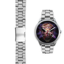 Load image into Gallery viewer, Okikana Premium Skull Watch-Silver Watch-wc-fulfillment-Mens 40mm-Silver Metal Link-SKULLZOPHRENIA