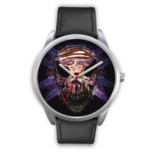 Load image into Gallery viewer, Okikana Premium Skull Watch-Silver Watch-wc-fulfillment-Mens 40mm-Black Leather-SKULLZOPHRENIA