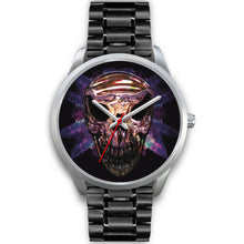 Load image into Gallery viewer, Okikana Premium Skull Watch-Silver Watch-wc-fulfillment-Mens 40mm-Black Metal Link-SKULLZOPHRENIA