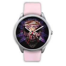 Load image into Gallery viewer, Okikana Premium Skull Watch-Silver Watch-wc-fulfillment-Mens 40mm-Pink Leather-SKULLZOPHRENIA
