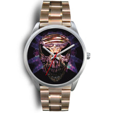 Load image into Gallery viewer, Okikana Premium Skull Watch-Silver Watch-wc-fulfillment-Mens 40mm-Rose Gold Metal Link-SKULLZOPHRENIA
