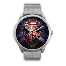 Load image into Gallery viewer, Okikana Premium Skull Watch-Silver Watch-wc-fulfillment-Mens 40mm-Silver Metal Mesh-SKULLZOPHRENIA