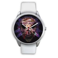 Load image into Gallery viewer, Okikana Premium Skull Watch-Silver Watch-wc-fulfillment-Mens 40mm-White Leather-SKULLZOPHRENIA