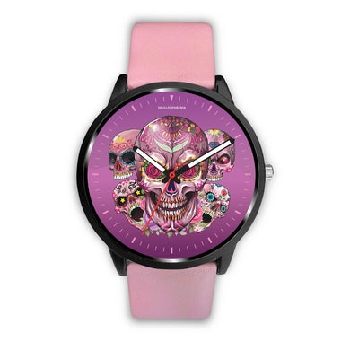 Prime Sugar Skull Watch-Watch-wc-fulfillment-Mens 40mm-Pink-SKULLZOPHRENIA