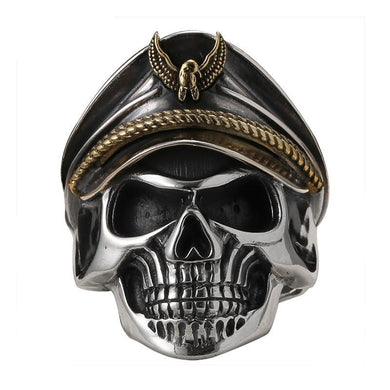 Vintage Eagle Captain - Silver Skull Ring