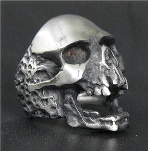 Requiem Stainless Steel Skull Ring