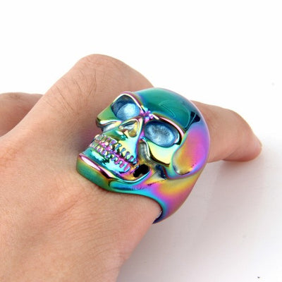 Iris Skull Stainless Steel Ring