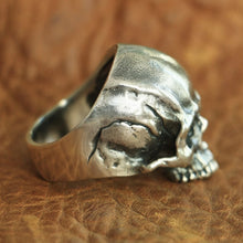 Load image into Gallery viewer, Classic Skull Bone - Silver Ring