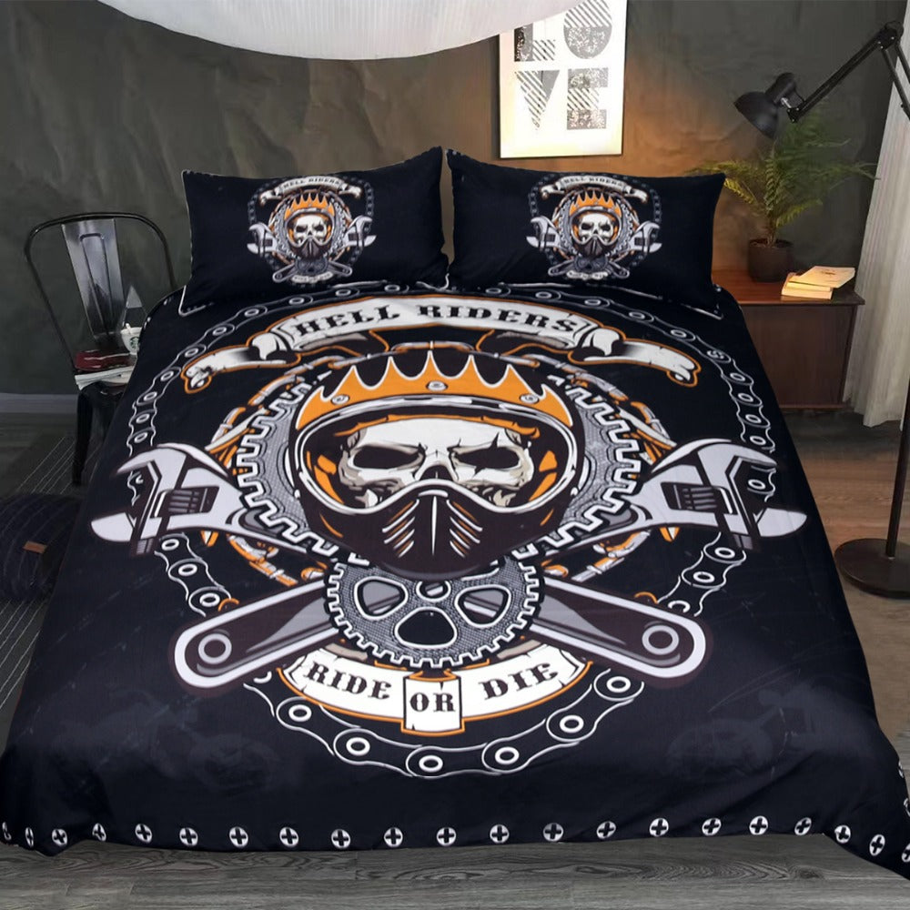 Hell Riders - 3D Skull Bedding Set