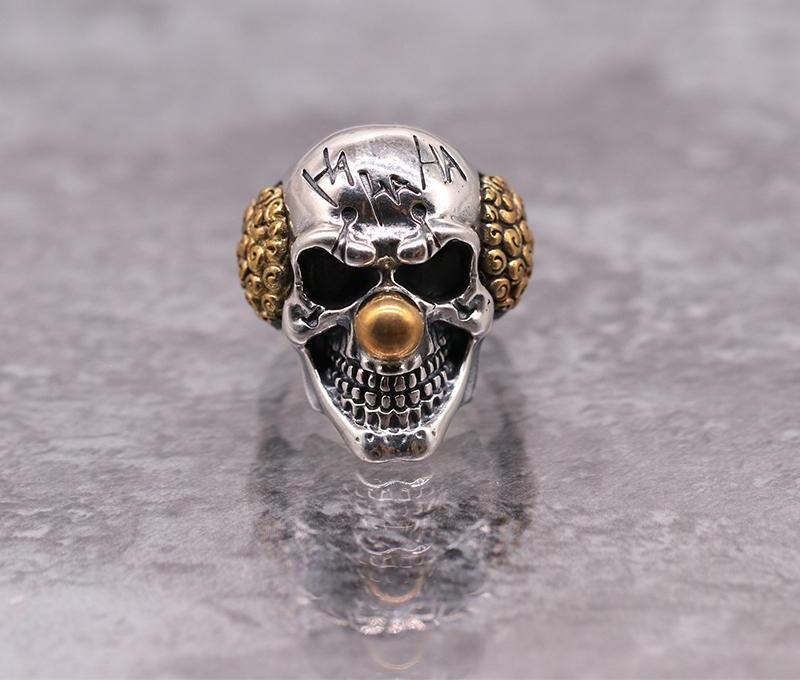 Dark Clown -  Adjustable Skull Ring