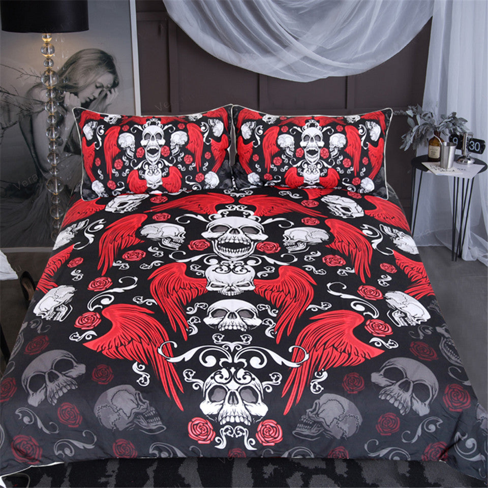 Skull Angel - 3D Bedding Set