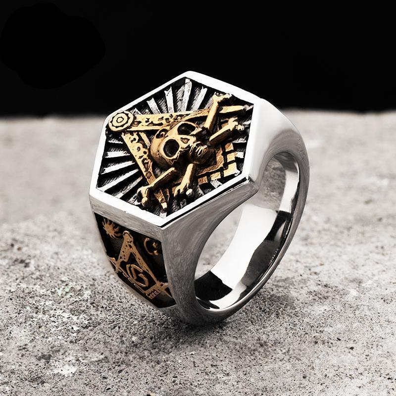 Freemason Stainless Steel Ring