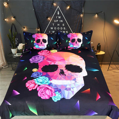 Catriona - 3D Skull Bedding Set