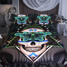 Load image into Gallery viewer, Prophecies - 3D Skull Bedding Set
