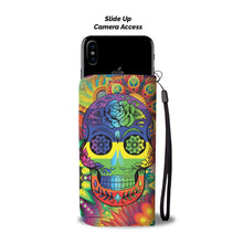 Load image into Gallery viewer, Rainbow Skull Wallet Phone Case-Wallet Case-wc-fulfillment-SKULLZOPHRENIA