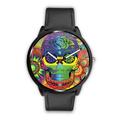 Rainbow Skull Watch-Watch-wc-fulfillment-Mens 40mm-Black-SKULLZOPHRENIA