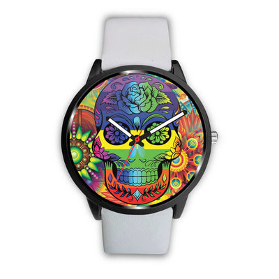 Rainbow Skull Watch-Watch-wc-fulfillment-Mens 40mm-White-SKULLZOPHRENIA