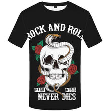Load image into Gallery viewer, Rock and Roll - 3D Skull Tee-tee-SKULLZOPHRENIA-3d t shirt 14-S-SKULLZOPHRENIA