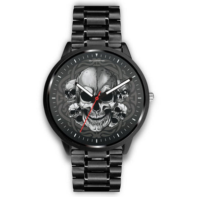 Silver Skulls Watch-Watch-wc-fulfillment-Mens 40mm-Metal Link-SKULLZOPHRENIA