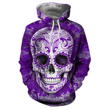 Load image into Gallery viewer, Sugar Skull Hoodie-Hoodie-SKULLZOPHRENIA-LMS255-4XL-SKULLZOPHRENIA