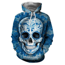 Load image into Gallery viewer, Sugar Skull Hoodie-Hoodie-SKULLZOPHRENIA-LMS256-4XL-SKULLZOPHRENIA
