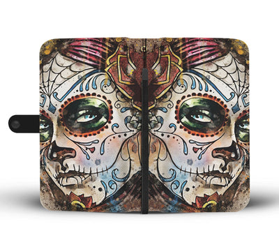 Sugar Skull Lady Wallet Phone Case-Wallet Case-wc-fulfillment-SKULLZOPHRENIA