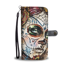 Load image into Gallery viewer, Sugar Skull Lady Wallet Phone Case-Wallet Case-wc-fulfillment-SKULLZOPHRENIA