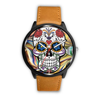 Sugar Skull Watch-Watch-wc-fulfillment-Mens 40mm-Brown-SKULLZOPHRENIA