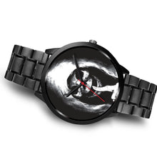Load image into Gallery viewer, The Silencer Black Skull Watch-Black Watch-wc-fulfillment-Mens 40mm-Black Metal Link-SKULLZOPHRENIA