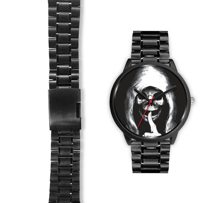 The Silencer Black Skull Watch-Black Watch-wc-fulfillment-Mens 40mm-Black Metal Link-SKULLZOPHRENIA