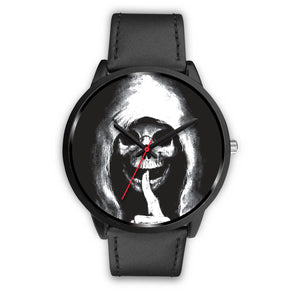 The Silencer Black Skull Watch-Black Watch-wc-fulfillment-Mens 40mm-Black Leather-SKULLZOPHRENIA